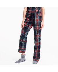 J.Crew | Blue Cotton Poplin Pajama Pant In Stewart Plaid | Lyst