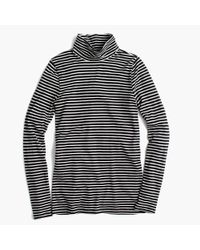 J.Crew - Black Tissue Turtleneck T-shirt In Stripe - Lyst