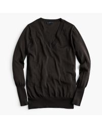 J.Crew | Black Merino Wool V-neck Sweater | Lyst