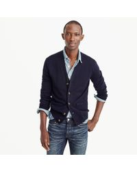 J.Crew - Blue Italian Merino Wool Cardigan Sweater for Men - Lyst