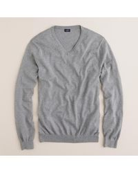 J.Crew | Gray Slim Cotton-cashmere V-neck Sweater for Men | Lyst