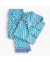 J.Crew - Blue Sz Blockprints Sleep Set - Lyst