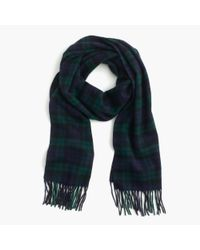 J.Crew | Green Cashmere Scarf In Plaid for Men | Lyst