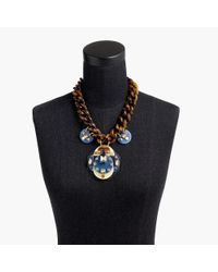 J.Crew - Blue Lucite And Crystal Necklace - Lyst