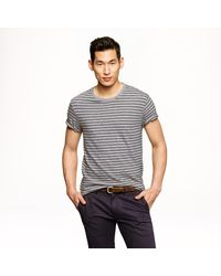 J.Crew | Gray Nautical-striped Heathered T-shirt for Men | Lyst