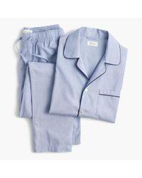 J.Crew - Blue Pajama Set In Cotton Poplin for Men - Lyst