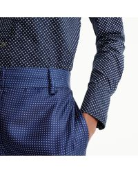 J.Crew - Blue Tall Perfect Shirt In Polka Dot for Men - Lyst