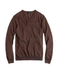 J.Crew - Gray Slim Merino Wool V-neck Sweater for Men - Lyst