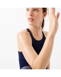 New Balance - Blue Racerback Tank Top With Built-in Sports Bra - Lyst