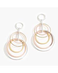 J.Crew - Metallic Layered Circle Drop Earrings - Lyst