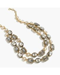 J.Crew - Metallic Plated Necklace - Lyst