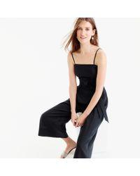J.Crew - Black Linen Jumpsuit With Tie - Lyst