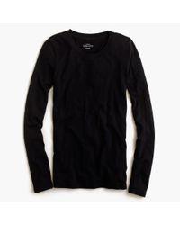 J.Crew | Black Vintage Cotton Long-sleeve T-shirt | Lyst