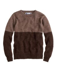 J.Crew | Brown Industry Of All Nations Colorblock Alpaca Sweater for Men | Lyst
