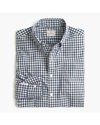 J.Crew | Blue Slim Secret Wash Shirt In Microcheck for Men | Lyst
