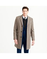 J.Crew | Brown Ludlow Topcoat In Herringbone English Wool for Men | Lyst