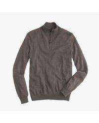 J.Crew - Gray Slim Merino Wool Half-zip Sweater for Men - Lyst