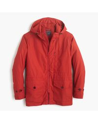 J.Crew | Red Cotton-nylon X250 Hooded Jacket for Men | Lyst