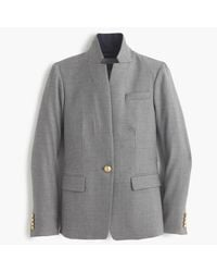 J.Crew | Gray Petite Regent Blazer With Satin Lapel | Lyst