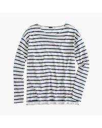 J.Crew - White Deck-striped T-shirt - Lyst