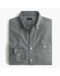 J.Crew - Gray Cotton-wool Elbow-patch Shirt In Solid for Men - Lyst