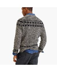 J.Crew - Black Italian Wool Fair Isle Sweater for Men - Lyst