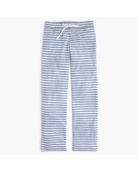 J.Crew | Blue Tall Dreamy Cotton Pant In Stripe | Lyst