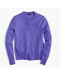 J.Crew   Purple Cotton Jackie Cardigan Sweater   Lyst