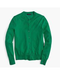 J.Crew | Green Cotton Jackie Cardigan Sweater | Lyst