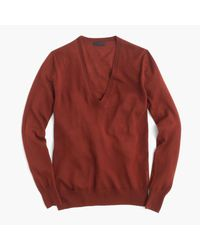 J.Crew | Brown Italian Featherweight Cashmere Classic V-neck Sweater | Lyst