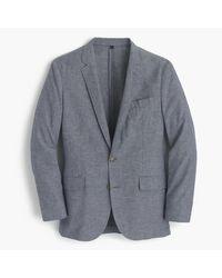 J.Crew | Gray Unstructured Ludlow Cotton-linen Blazer In Deep Water for Men | Lyst