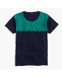 J.Crew | Blue Lace T-shirt for Men | Lyst