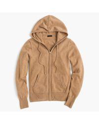 J.Crew | Natural Italian Cashmere Zip-front Hoodie | Lyst