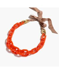J.Crew | Multicolor Lucite Link Necklace | Lyst