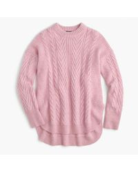 J.Crew | Multicolor Collection Italian Cashmere-mohair Tunic Sweater | Lyst
