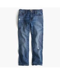 J.Crew | Blue Petite Vintage Crop Jean In Rhodes Wash | Lyst