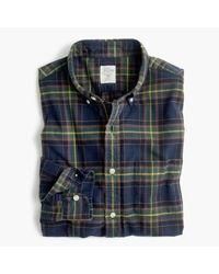J.Crew | Blue Tall Oxford Shirt In Navy Ink Plaid for Men | Lyst
