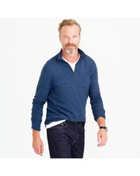 J.Crew - Blue Double-knit Half-zip Pullover for Men - Lyst