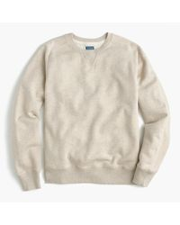 J.Crew | Natural Tall Fleece Sweatshirt for Men | Lyst