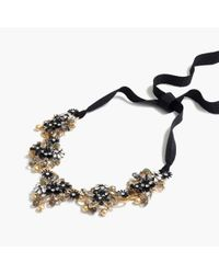 J.Crew - Black Midnight Crystal Necklace - Lyst