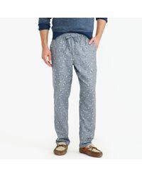 J.Crew | Black Flannel Pajama Pant In Duck Print for Men | Lyst