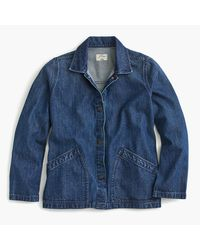 J.Crew | Blue Denim Swing Jacket In Stanmore Wash | Lyst