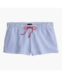 J.Crew | Blue Seersucker Drawstring Board Short for Men | Lyst