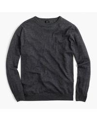 J.Crew | Gray Lightweight Italian Merino Wool Sweater for Men | Lyst