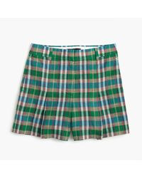 J.Crew | Green High-waisted Short In Vintage Plaid | Lyst