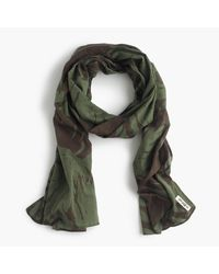 J.Crew | Green The Hill-side Lightweight Scarf In Palm Leaves Print | Lyst