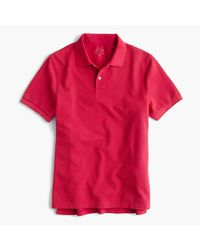 J.Crew | Red Slim Sun-faded Classic Polo Shirt for Men | Lyst