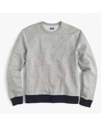 J.Crew | Gray French Terry Crewneck Sweatshirt In Grey for Men | Lyst