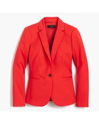 J.Crew | Red Tall Campbell Blazer In Bi-stretch Cotton | Lyst