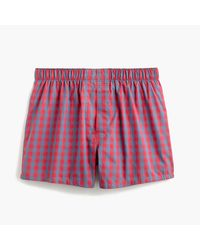 J.Crew | Red Gingham Boxers for Men | Lyst